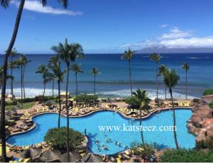 Our hotel room view at the Hyatt Regency Maui.
